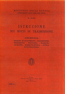 Istruzioni sui mezzi di trasmissione_1938